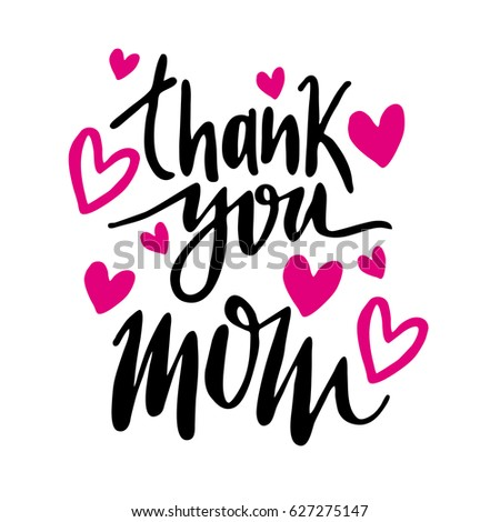 Message thank you mom happy mothers day lettering greeting card message thank you mom happy mothers day lettering greeting card m4hsunfo