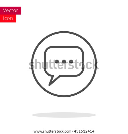 Message Thin Line icon. Message icon vector. Message icon illustration. Isolated chat symbol Message icon.