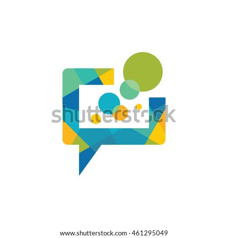 message   vector logo template