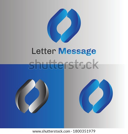 Messaging vector icon logo with blue gradient. Consulting agency chatting vector logo template  with t and l letter. Photo stock ©