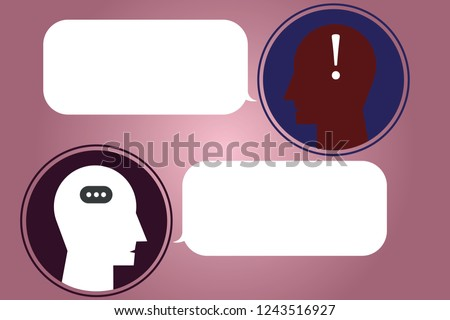 Messenger Room with Chat Heads, Speech Bubbles and Punctuation Mark icon