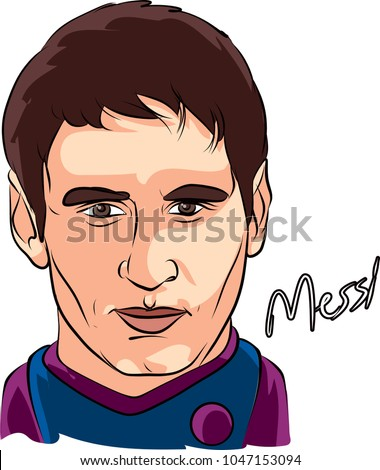 messi famous person cartoon