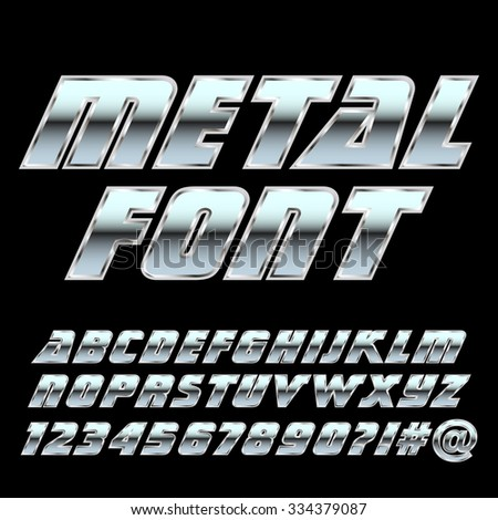metal alphabet and symbols