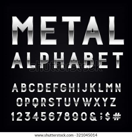 metal alphabet font type