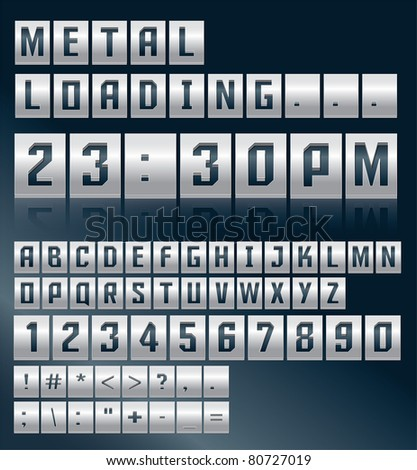 Metal alphabet vector design