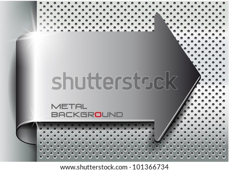 metal background arrowvector