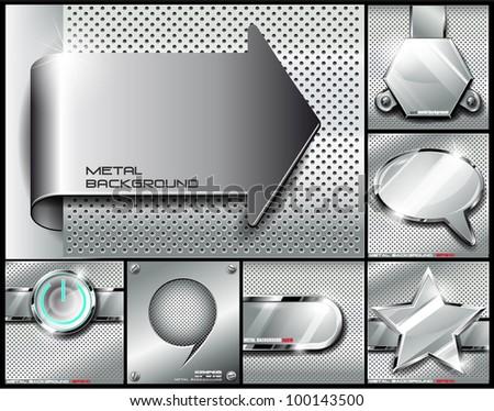 metal background setvector