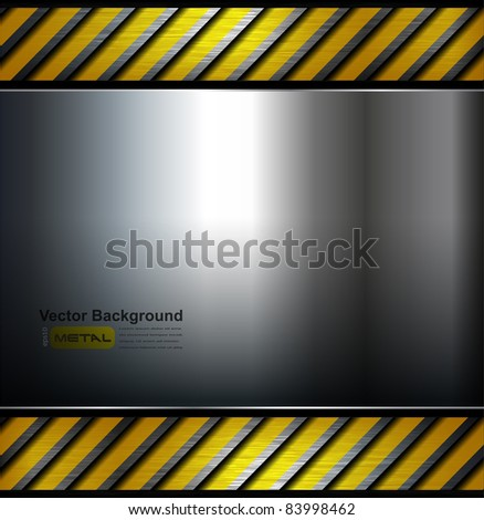 Metal background template, vector illustration. - stock vector