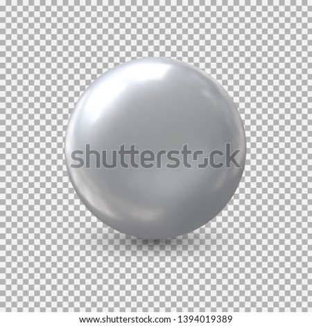Metal ball isolate .Realistic balloon for labels, advertising . Bubble. Vector illustration.