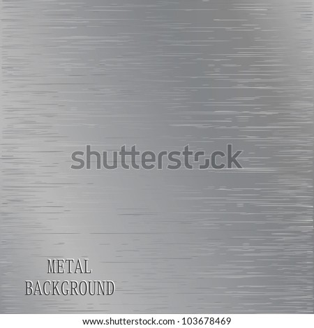 Metal brushed pattern of the surface