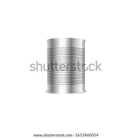 metal can on white background