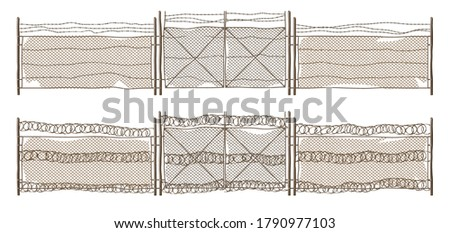 metal chain link fence with