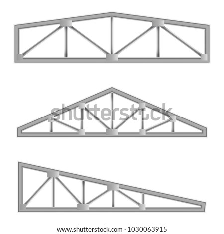 metal constructions isolated on