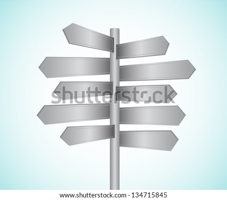 Metal directional signs vector illustration #134715845