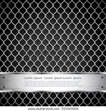 metal fence on a dark