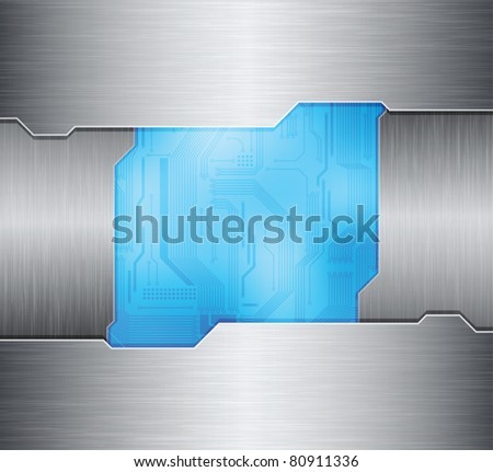 metal frames and technology theme background. eps10 layered vector file.