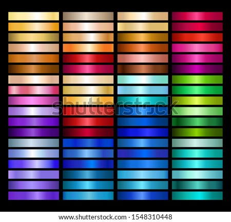 Metal Gradient Collection of Every Color Swatches Stock photo ©
