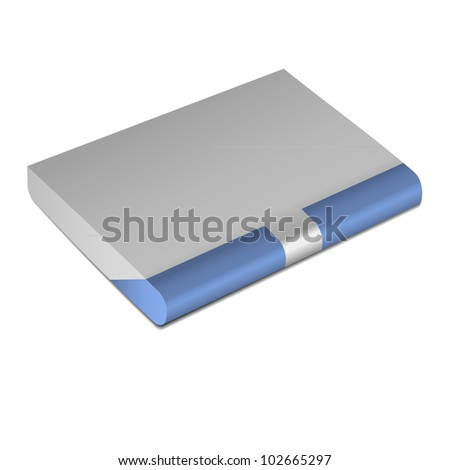 Metal Gray, blue business card holder