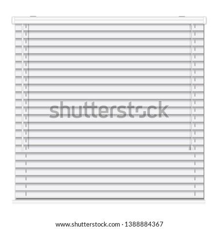 Metal horizontal jalousie icon. Realistic illustration of metal horizontal jalousie vector icon for web design isolated on white background