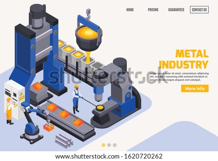 metal industry colored banner