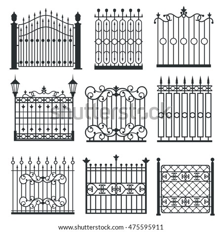 metal iron gates  grilles