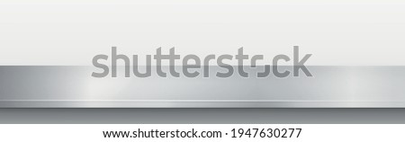 Metal kitchen countertop, iron texture, large table on a white background - Vector illustration Foto stock ©