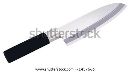 metal knife vector illustration