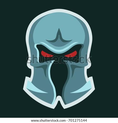 metal knight's helmet