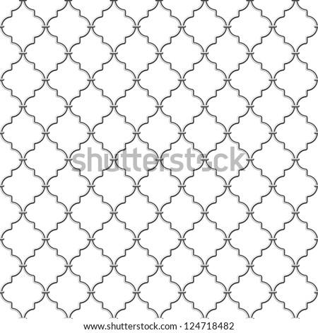 Metal lattice. Seamless vector.