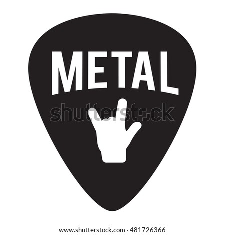 metal music badge label for