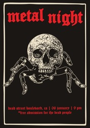 Metal Night Gig Poster Flyer Template