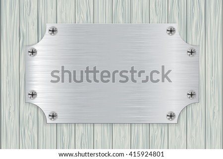 metal plate on light wooden
