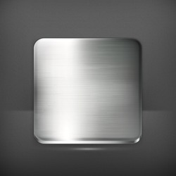Metal plate, vector