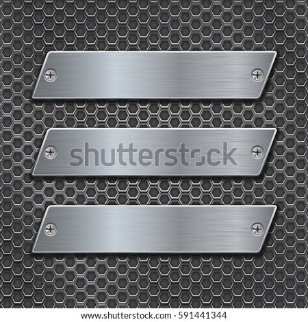 metal plates on iron perforated