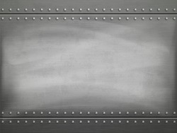 Metal polished plate with scratches. Vector steel background.