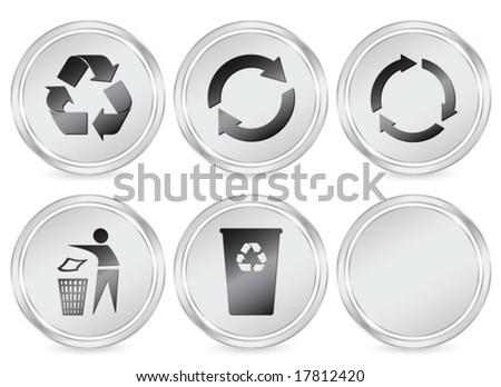 Recycle Symbol Circle Metal Recycle Symbols Circle