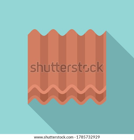 metal roof icon flat