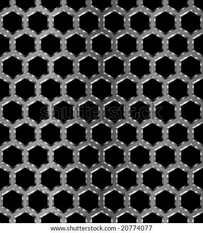 Metal seamless pattern hexagonal  - stock vectorHexagonal Pattern Vector