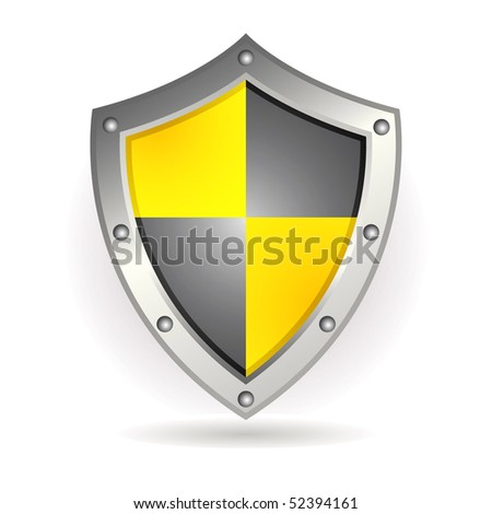 Metal shield - stock vector
