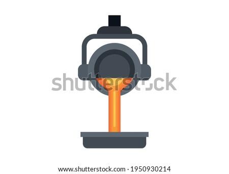 Metal smelter. Simple flat illustration.  Foto stock ©