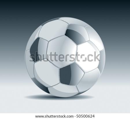 Metal Soccer Ball Vector Drawing