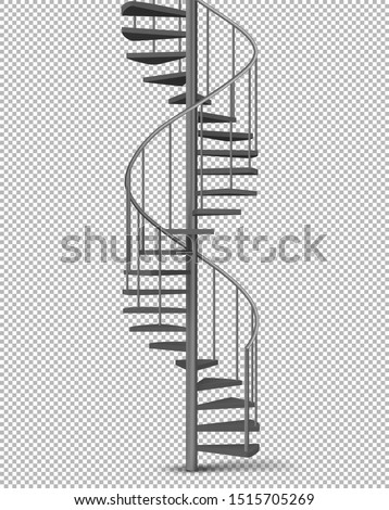 metal spiral  helical staircase