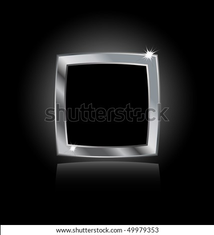 metal steel frame isolated on black background