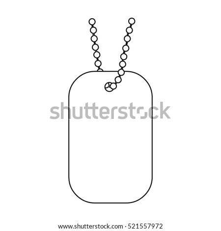 metal tags hanging on a chain