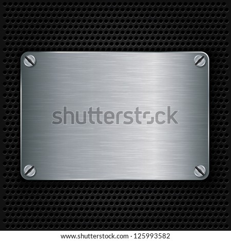 metal texture plate with screws