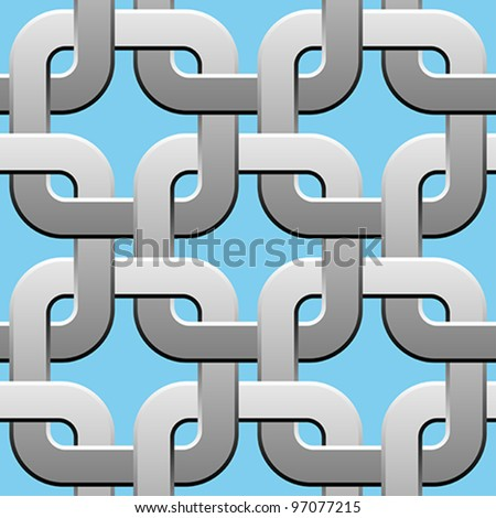 metal twisted rings seamless pattern