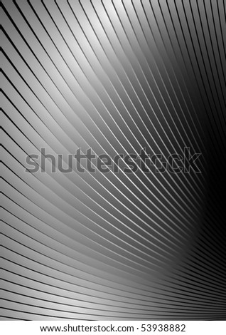 Metal vector surface  striped and swirled