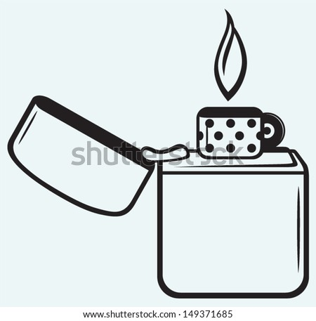 metal zippo lighter isolated on