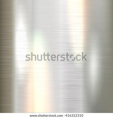 Metallic background brushed polished steel texture, created with gradient mesh. Vector EPS 10.