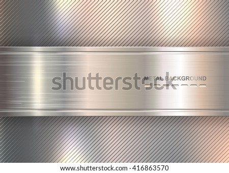metallic background brushed